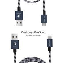 DUX DUCIS 2PCS/Lot Micro USB Cable Braided 20cm 1m Micro USB to USB Cable for Samsung Xiaomi LG Charger Data Sync Cable Gift New