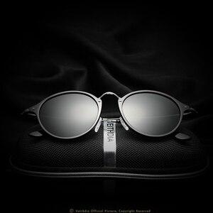 Image 4 - VEITHDIA موضة خمر للجنسين الطيران الألومنيوم مستديرة الاستقطاب النظارات الشمسية الرجال النساء العلامة التجارية مصمم نظارات شمسية نظارات 6358