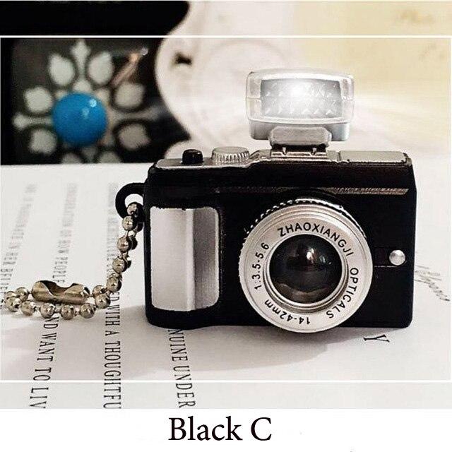 Светодиодная камера мигающая игрушка для детей цифровой брелок с камерой светящийся звук вспышка светильник Подвеска сумка Аксессуары Детская игрушка - Цвет: Black C