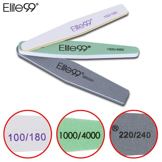 Elite99 3 Mix Größe Doppel Seite Nagel Dateien Schleifen Pro Nail art Schleif Bar Maniküre Pediküre Nagel Werkzeuge