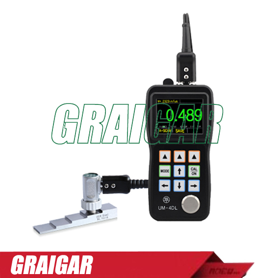 UM 4DL A Scan Ultrasonic Wall Thickness Gauge Meter Tester w/Through Paint/Coating Function and Data Logger is Avaliable