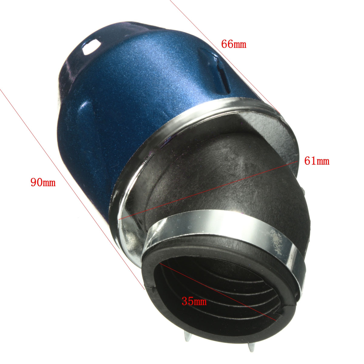 35mm Bullet Air Filter Cleaner Intake 50cc Motorcycle Scooter Dirt Pit ATV Bike Green Black Blue Red Silver