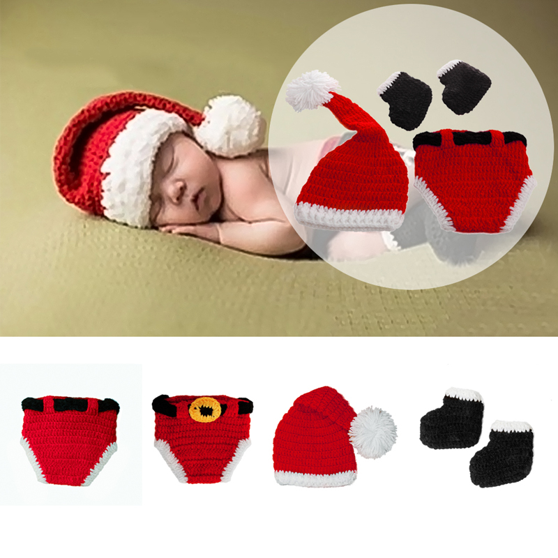 Hot Sell Christmas Baby Hats Hand-Knit Hat Knitted Beanie Baby Cap Handmade Autumn Winter