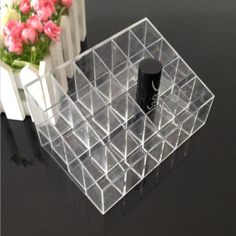 24 Grid Acrylic Makeup Organizer Storage Box Display Stand make up organizer Cosmetic Box Lipstick Jewelry Box Case Holder