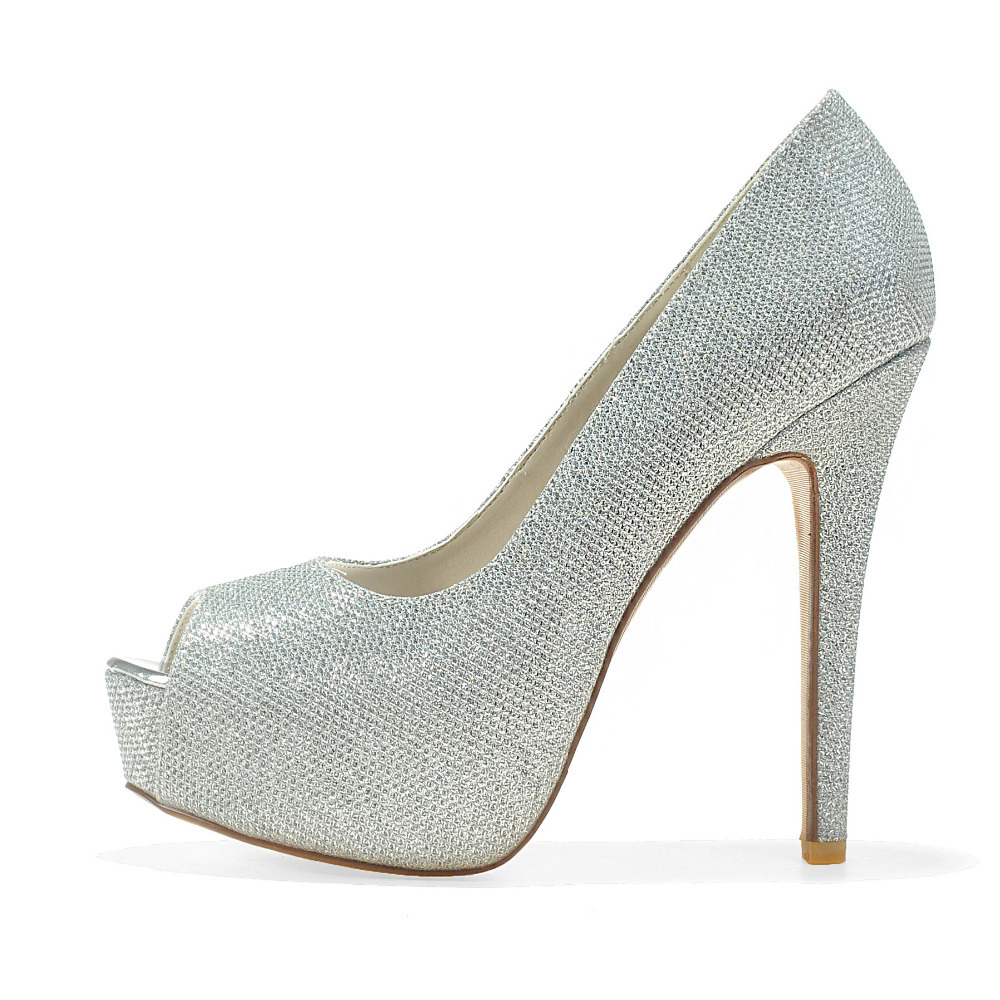 9a29f0bfd5ff Creativesugar Ladies platform high heel dress shoes gold silver black  glitter pumps wedding open toe heels party prom cocktail-in Women s Pumps  from Shoes ...