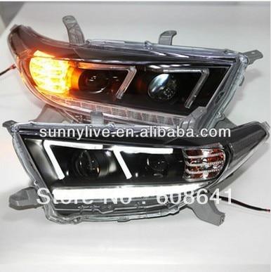 2012-2013 έτος Kluger Highlander LED F Τύπος Angel μάτι - Φώτα αυτοκινήτων