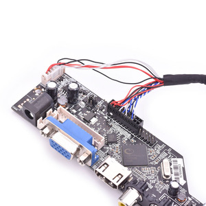 Image 4 - V53 universal TV lcd control board 10 42inch lvds driver board TV VGA AV HDMI USB DS.V53RL.BK full kit for LTN156AT01 A01