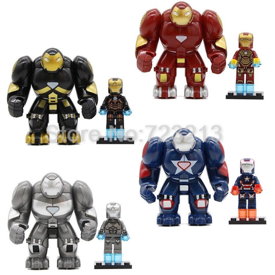Single Sale Iron Man Figure Set Ironman Hulkbuster Super Hero Marvel Avengers Building Blocks Model Bricks Kits Toys