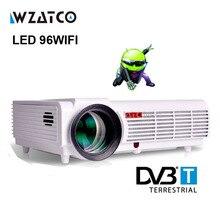 LED96 Android 4.4 WIFI 5500 люмен видео HDMI dvb-t ТВ Full HD 1080 P домашнего кинотеатра 3D светодиодный проектор projetor proyector bt96