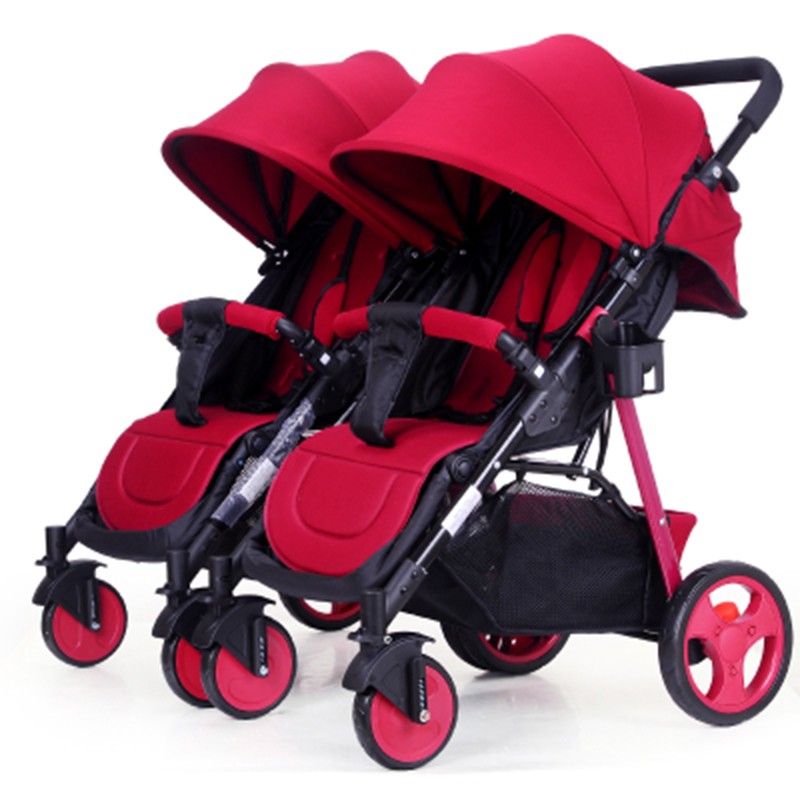 Twin baby stroller can be split to sit lie lightweight folding double stroller sometimes i lie
