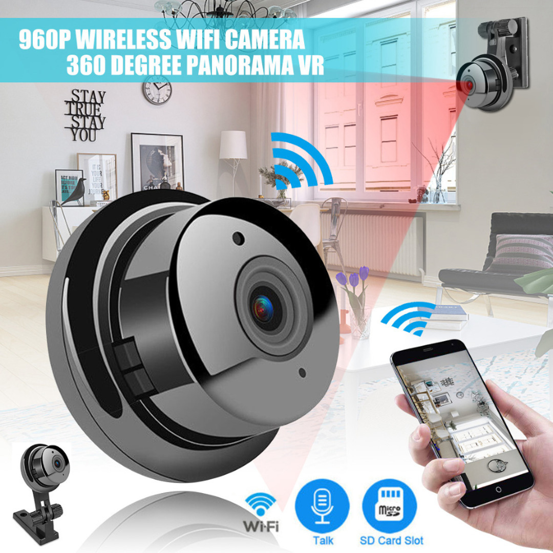 1pc Mini HD 1080P Wireless Wifi Camera 2.8mm Wide-Angel Lens Home Security IP Camera Camcorders Monitor Night Vision
