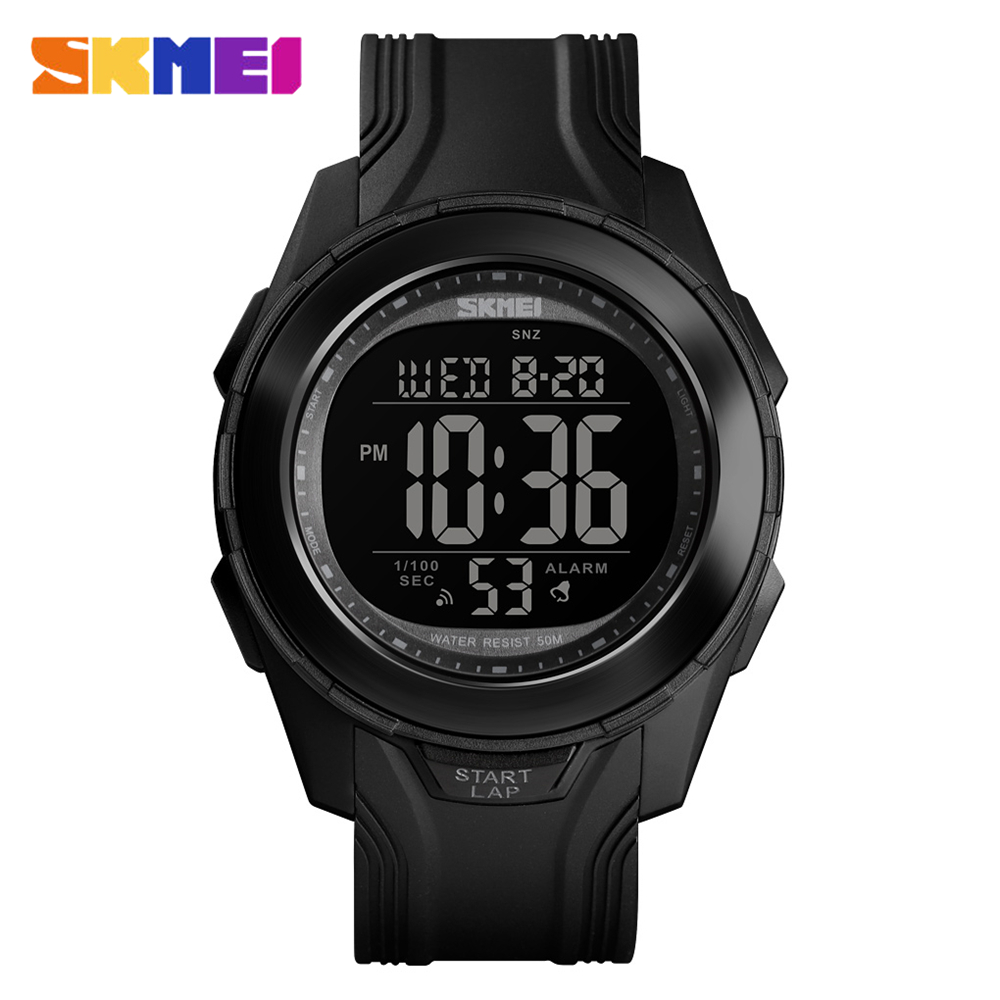 <font><b>SKMEI</b></font> <font><b>1503</b></font> New Mens Sports Watches Back Light LED 50M Waterproof Digital Watch Chronograph Week Wristwatches Relogio Masculino image