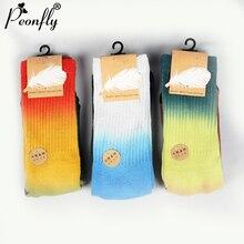 PEONFLY Calcetines de compresión de color blanco para hombre y mujer, calcetín para montar en monopatín, estilo Hip Hop