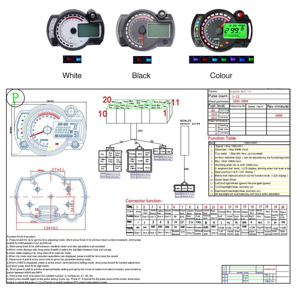 Universal Motorcycle Speedometer Wiring Diagram from ae01.alicdn.com