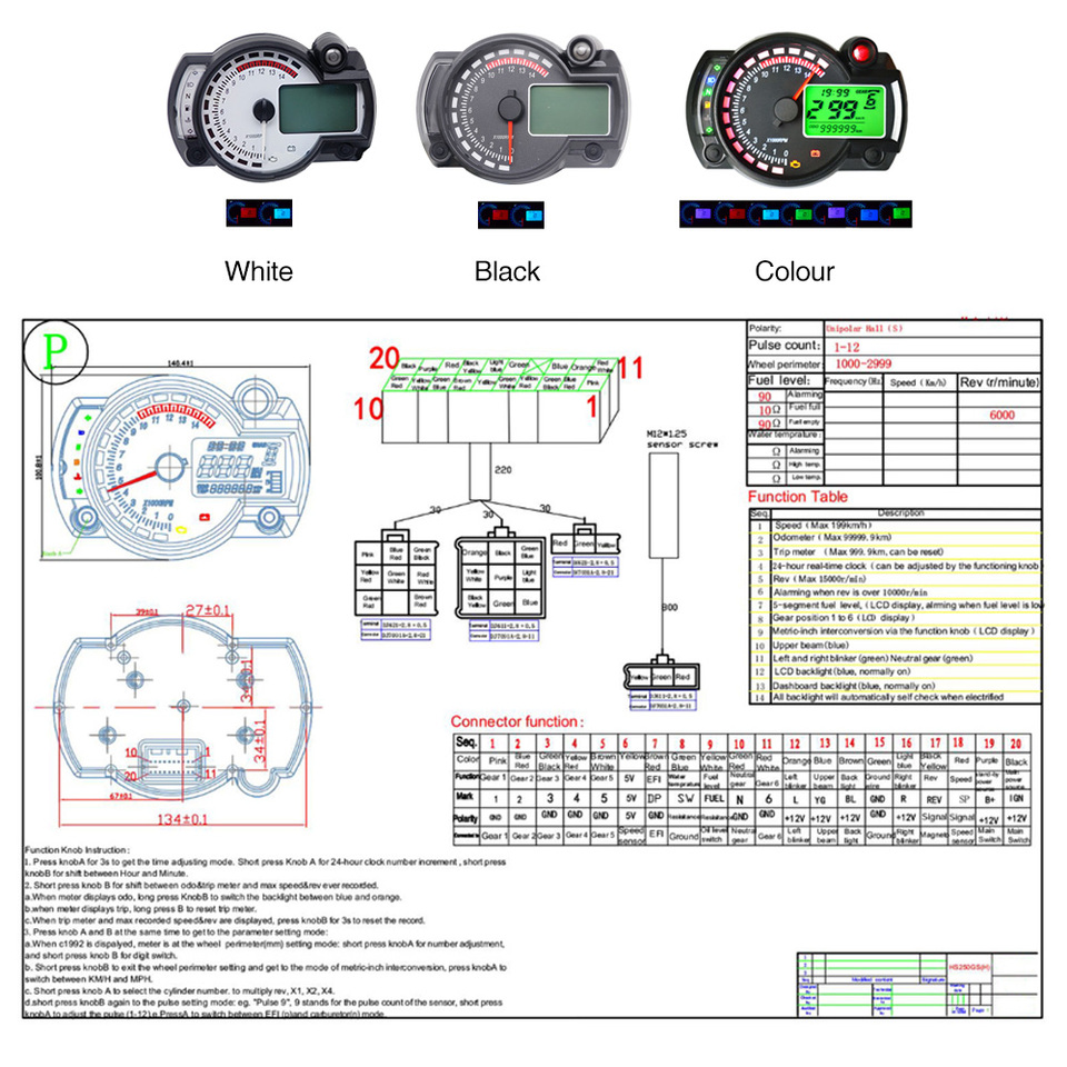 zs motos 15000rpm modern motorcycle digital light lcd digital gauge  speedometer tachometer odometer adjustable motorcycle| | - aliexpress  aliexpress