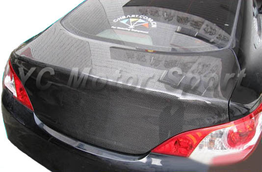 Car Accessories Carbon Fiber OEM Style Trunk Fit For 2010-2011 Rohens Genesis Coupe Rear Trunk Bootlid Tailgate
