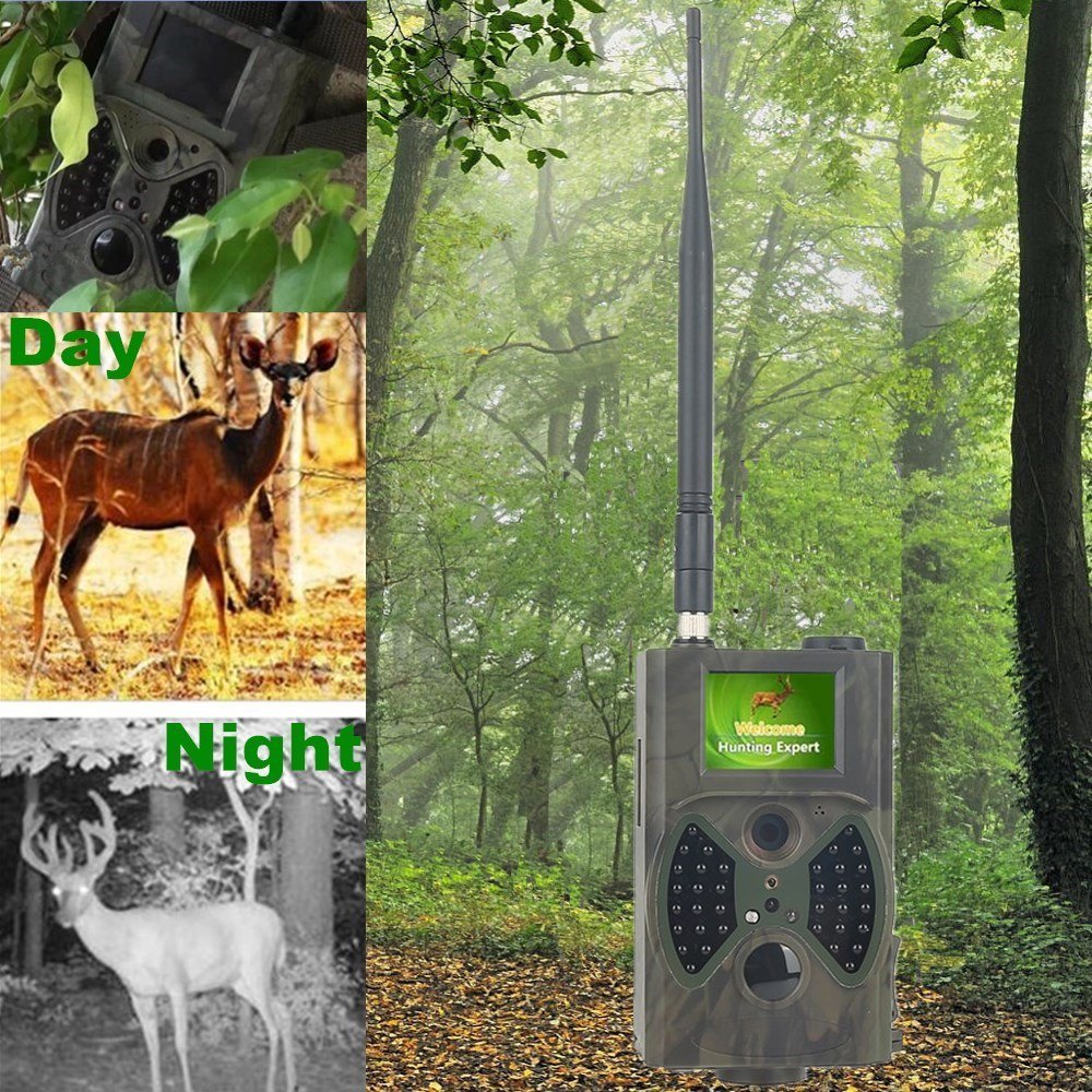 HC-300M GPRS GSM MMS SMS infrared scouting thermal camera hunting foail cam outdoor animal camera trap photos sim800 quad band add on development board gsm gprs mms sms stm32 for uno exceed sim900a unvsim800 expansion board