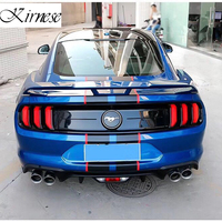 GT Style Car Trunk Decoration Tail Wing Carbon Fiber Rear Wing Spoiler Fit For Ford Mustang Coupe 2015 UP