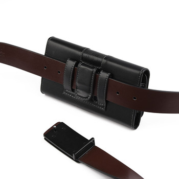 Phone Cover Belt Clip Holster Leather flip Pouch Case for iphone Samsung Huawei Xiaomi 6.3/5.5 Inch Universal Mobile Phone Bag 5