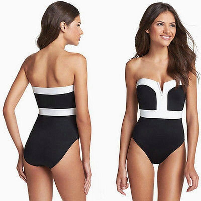 Aipbunny Elegante One Piece Swimsuit Monokini 2017 Triquini Swimwear Mulheres Strapless Biquinis Piscina Bodysuit Maiô Fatos de banho
