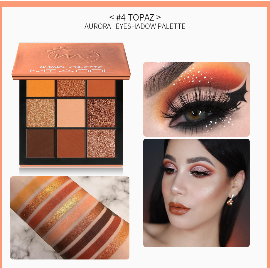 Beauty & Health Miaool Obsessions Palette Topaz 9 Colors Shimmer Matte Eyeshadow Palette Beauty Precious Stone Mini Makeup Eye Shadow