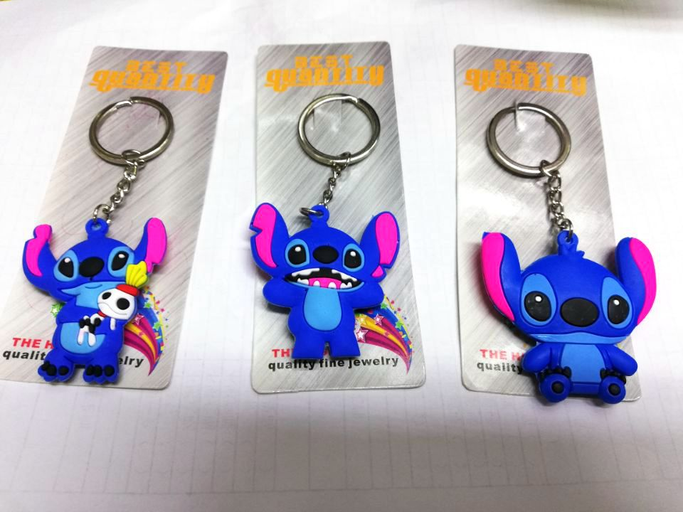 New 50 pcs Wholesale Mixed stitch Cartoon PVC Key Chain For Best Gift H 04