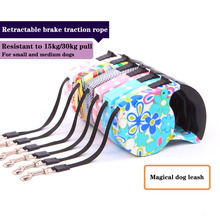 Pet automatic telescopic traction rope 5 m flat rope tractor dog chain high quality puppy dog automatic telescopic traction rope