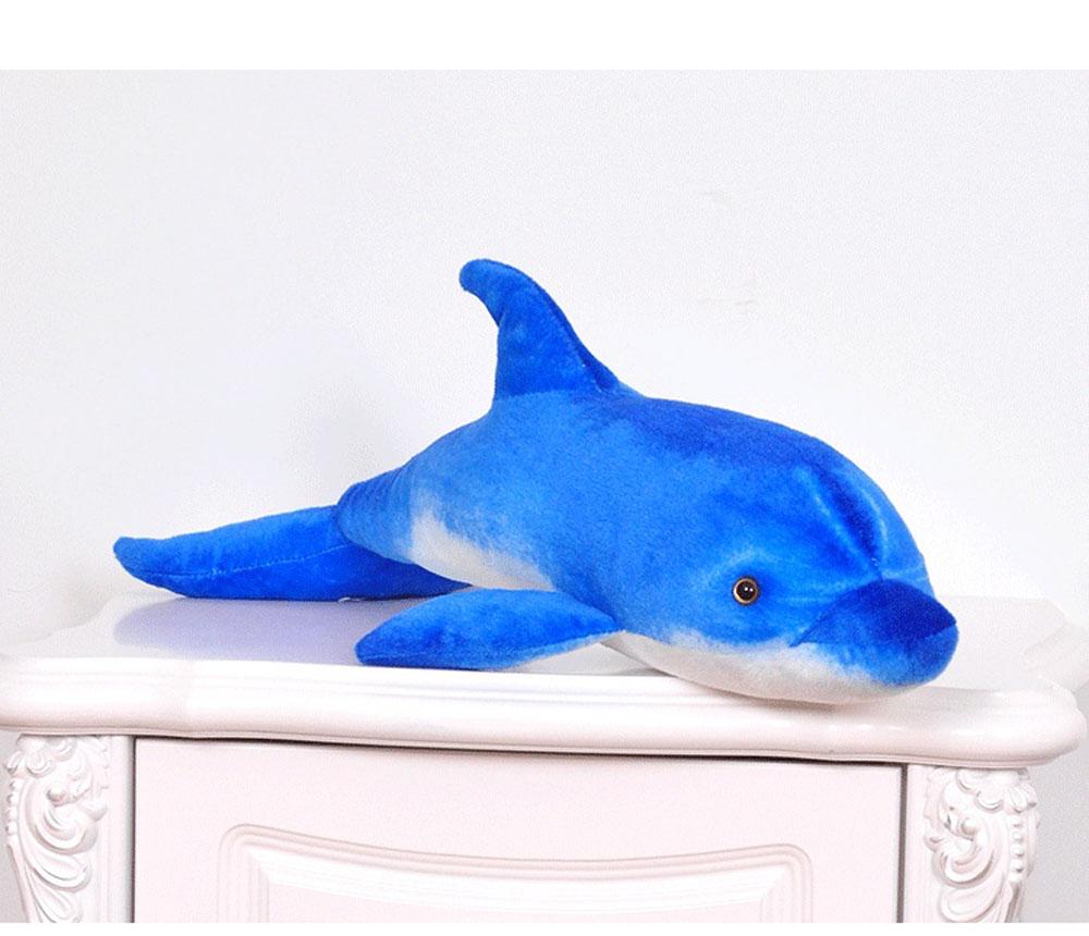 BOLAFYNIA Anak Plush Stuffed Toy Dolphin simulasi laut hewan Bayi - Boneka dan mainan lunak - Foto 4