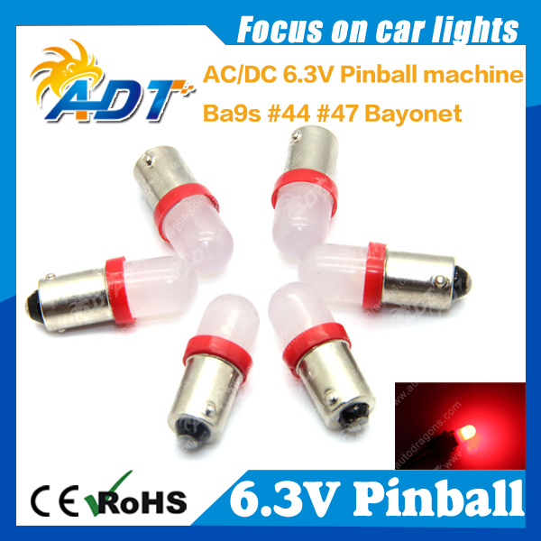 Free shippment <font><b>LED</b></font> lamp #555 194 <font><b>T10</b></font> W5W bayonet for 6V pinball <font><b>led</b></font> bulb wholesale super brightness pinball image
