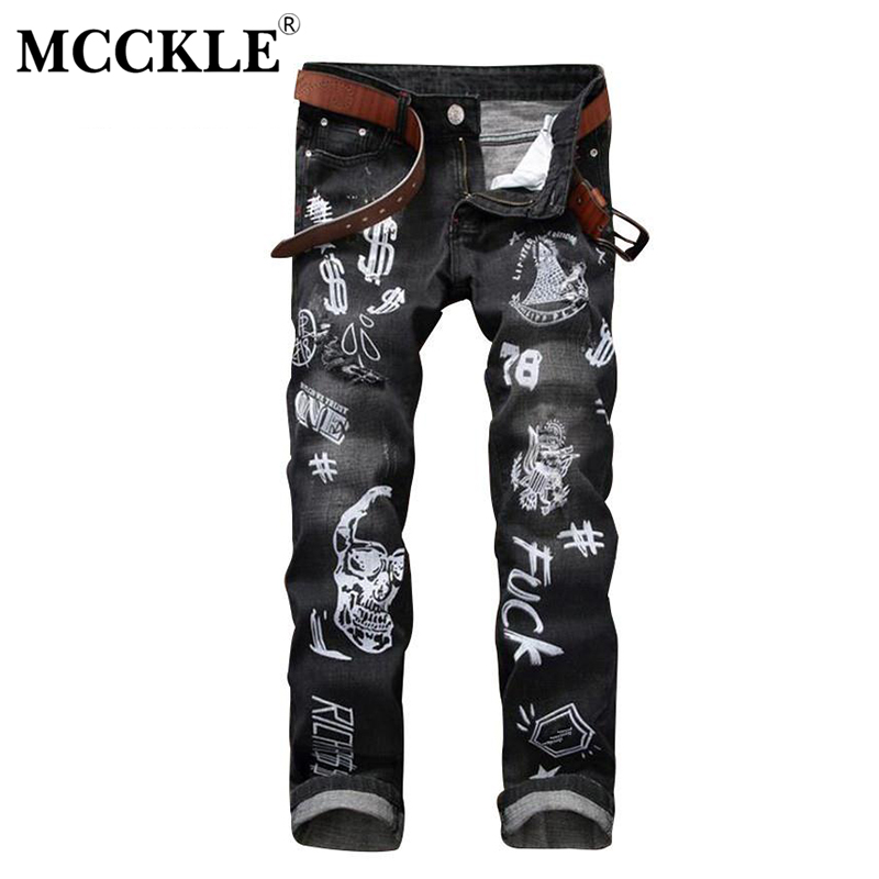 Fashion Mens Printed Jeans Pants Brand Designer Slim Fit Hip Hop Ripped Jean Joggers Streetwear Paint Distressed Denim Trousers  moruancle fashion mens black plain jeans pants slim fit stretch solid denim joggers brand designer jeans trousers for male e0275