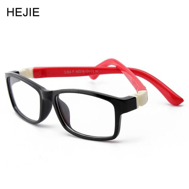 Moda Infantil Armações de Óculos TR90   Silicone Flexível Nenhum Parafuso  Segura Material Frame Ótico Para 81d6f50932