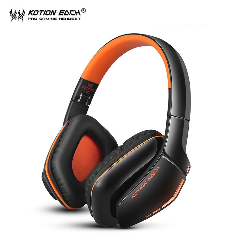 KOTION EACH B3506 Wireless Bluetooth Headphone Gaming headset pc gamer Headphones with Microphone LED light for smartphone kotion each b3506 foldable auriculares wireless fone de ouvido bluetooth headphones gaming headset gamer microphone kulaklik