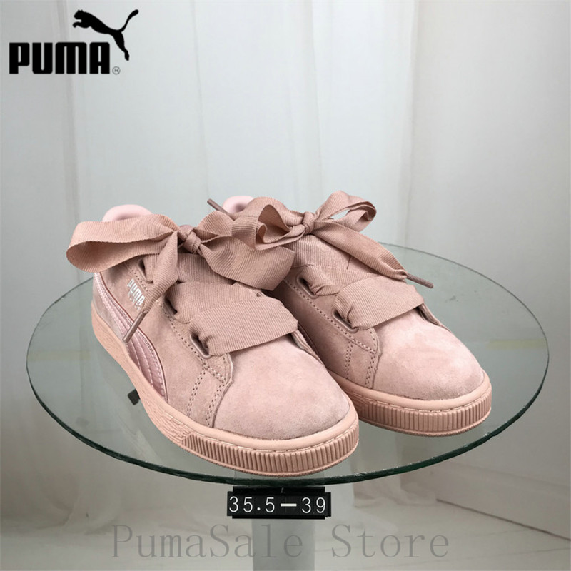 f2eda53e5840 PUMA Women s Suede Heart EP Trainers Badminton Shoes 366922 01 02  Lightweight Sport Shoes Pink Black Color Sneaker Size 35.5 39-in Badminton  Shoes from ...