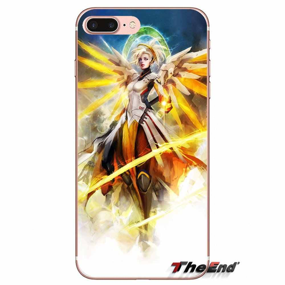 Патруля характер милосердия мягкий прозрачный сумка для Apple iPhone X 4 4S 5 5S SE 5C 6 6s 7 8 плюс 6s плюс 6 плюс 7 Plus 8 плюс