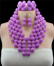 Nigerian Wedding African Beads Rushed Classic Women Imitation Pearl Jewelry Sets New Arrived Nigeria Set Necklace Africa Beads