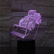 Led Night Light Forklift Decoration 3d Illusion 7 Color Changing Childrens Kids Baby Nightlight Gifts Table Lamp Bedroom Decor