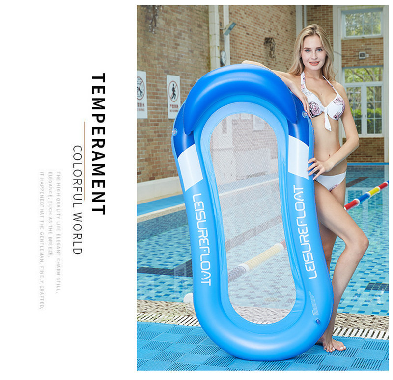 Inflatable Floating Row Chair Lounge Pool Floats Beach Single Air Mattress for Swimming Water Sports Floating Sleeping Bed Chair (5)