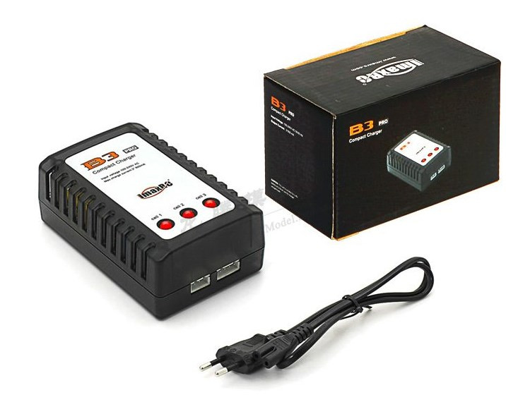 B3 Lipo battery charger AC 100~240V RC airplane  Li-po battery Balance Charger For 7.4-11.1V 2S-3S gdszhs b3 20w 2s 3s lipo battery compact for rc model 11 1v 7 4v 1 6a lipo battery 2s 3s charger