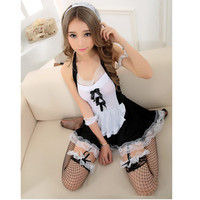 XS S M L XL Plus Size High Qualit Sexy French Maid Costume Halloween Dress Club