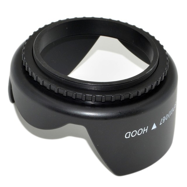 49mm 52mm 55mm 58mm 62mm 67mm 72mm 77mm Screwed Flower Petal Sunshade Lens Hood For Nikon Canon Sony Fuji Olympus DSLR Camera