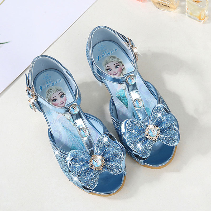 Children Girls Sandals,frozen Shoes For Girls,dancing And Party Shoe Bow Rhinestone Bow Else Shoes Eur Size 24-36