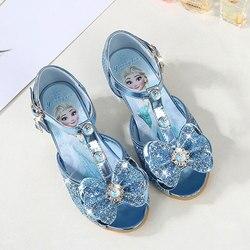 Dziecięce sandały dziewczęce  mrożone buty dla dziewczynek  buty do tańca i zabawy łuk rhinestone bow else buty EUR rozmiar 24 36 w Sandały od Matka i dzieci na