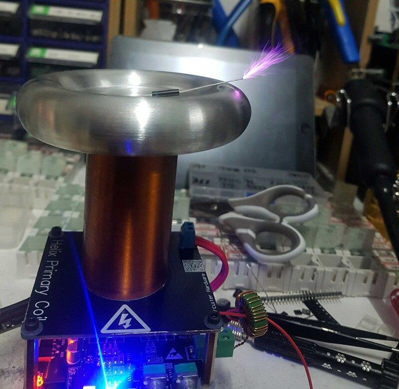 Mini carte de conducteur de bobine de Tesla de bobine de Tesla de musique de 16 MM DC 12 V - 4