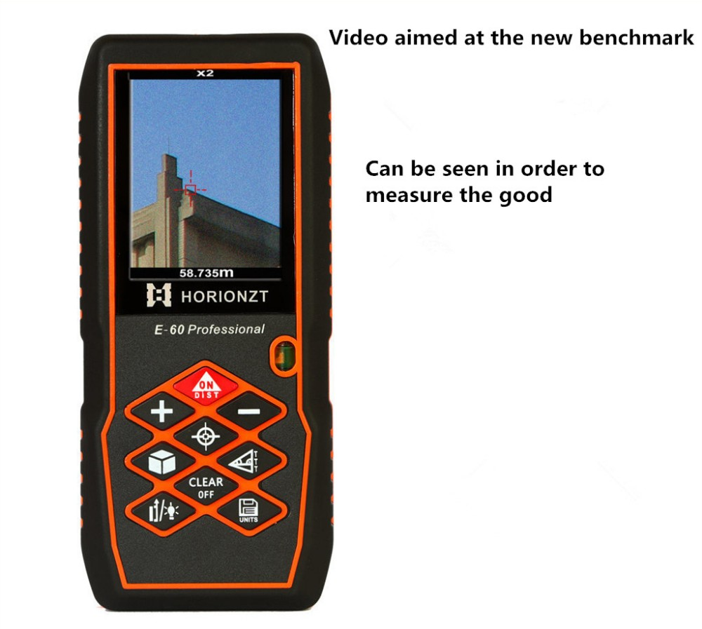 Professional 60m Handheld laser range finder Digital aiming laser ranging Bubble level font b Rangefinder b