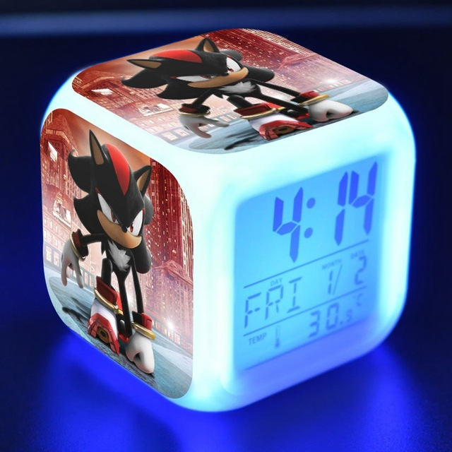 Colorful LED Clocks Cartoon Alarm Clock Toys Night Light for Kids Adult