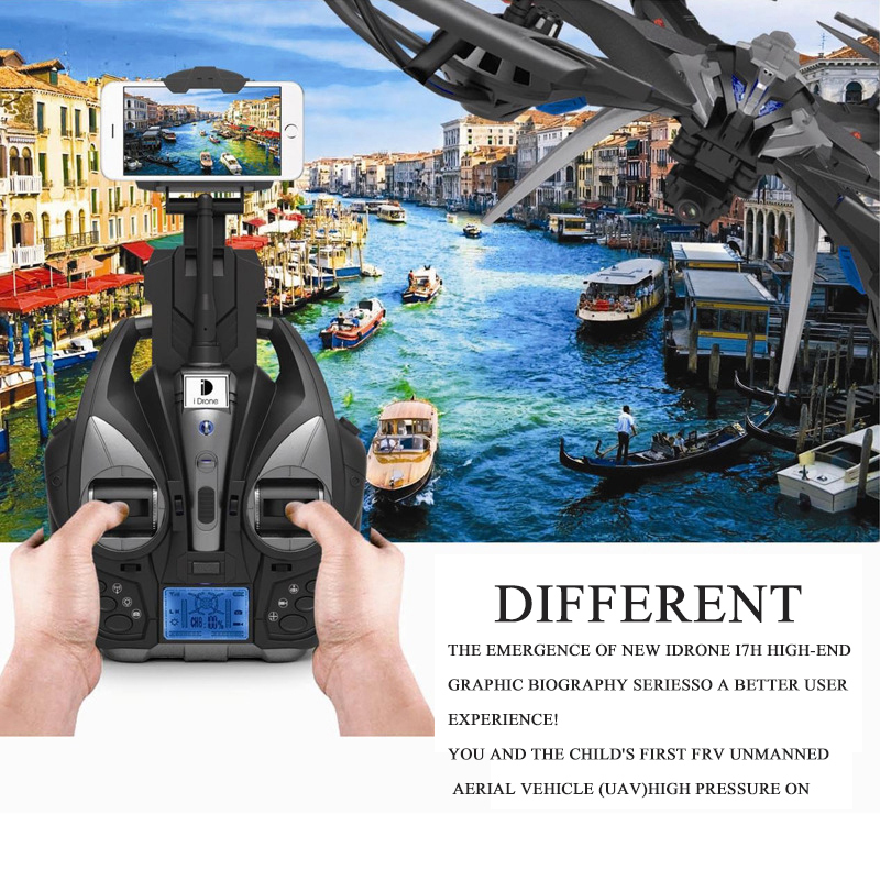 4CH 6 Axis Professiona RC Drone i7h Wifi FPVwiht HD Camera Video Remote Control Toys uadcopter Helicopter Aircraft Plane cheerson cx 10wd cx10wd rc drone wifi hd camera video fpv remote control toys uadcopter helicopter aircraft plane children gift