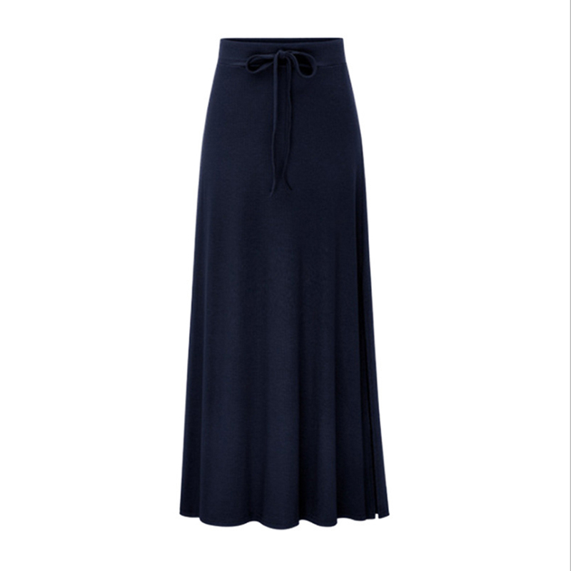 Bigsweety High Quality Women Pleated Long Skirt Fashion Slit Belted Maxi Skirt Autumn Winter High Waist Vintage A-Line Skirts 9