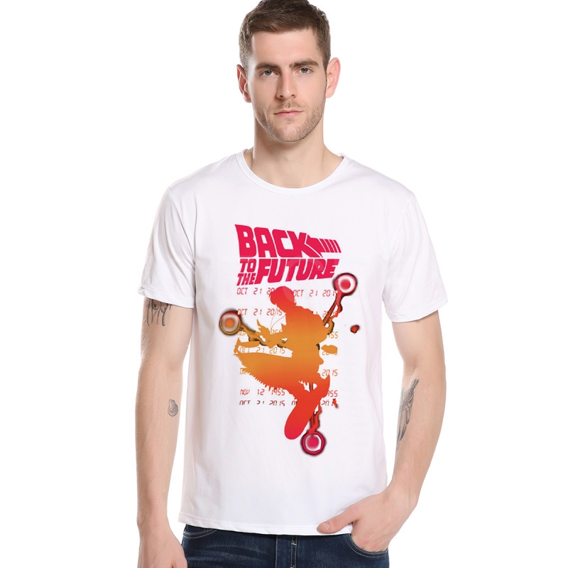 Back To The Future Quotes T Shirt Custom Made In Men 2018 Graphic Subject Hot Selling Tee Shirt Homewear Summer T-shirt M12-11#