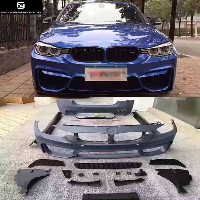 Us 1429 99 F30 M3 Car Body Kit Pp Unpainted Front Bumper Rear Bumper Side Skirts Front Fenders For Bmw F30 M3 Style 13 15 In Body Kits From