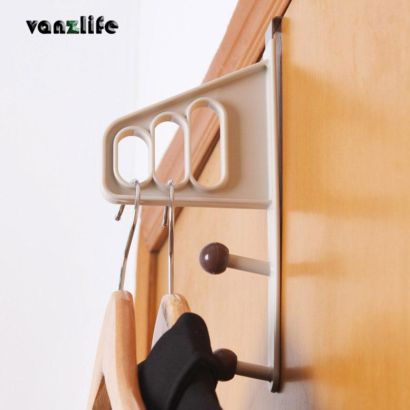 vanzlife kreativ dörrhängare för kappstrumpa halsduk och påsar nagelfri multifunktionsklädselhängare